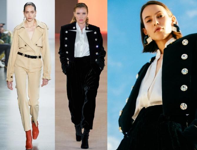 женские костюмы 2021 года в стиле милитари