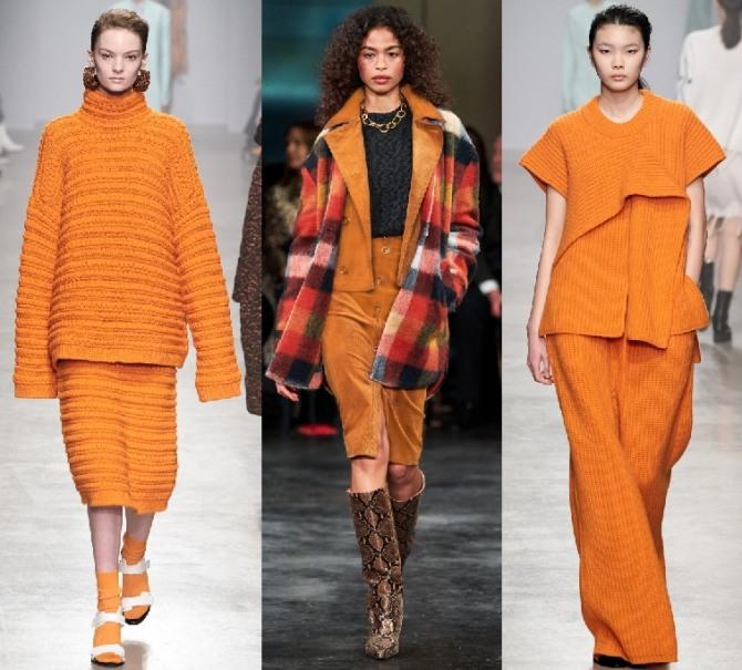 женские костюмы оранжевого цвета - фасоны 2021 года