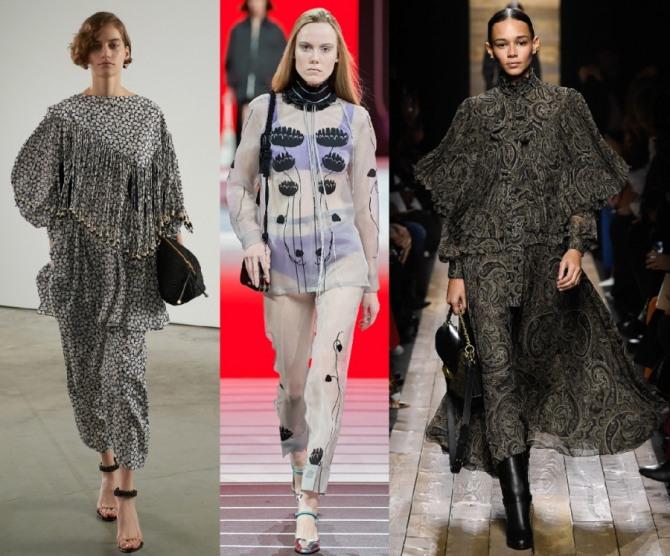 шифоновые костюмы 2021 года со свободными блузами и юбками
