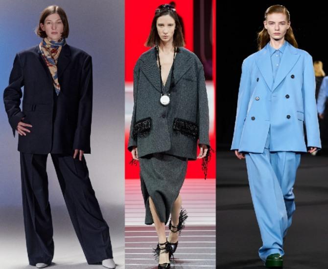 женские костюмы в стиле оверсайз - идеи от стилистов модных домов на 2021 год