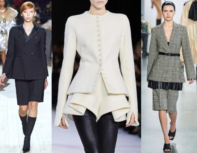 новинки деловых женских костюмов жакет с шортами - из коллекций мировых брендов на 2021 год, фото
