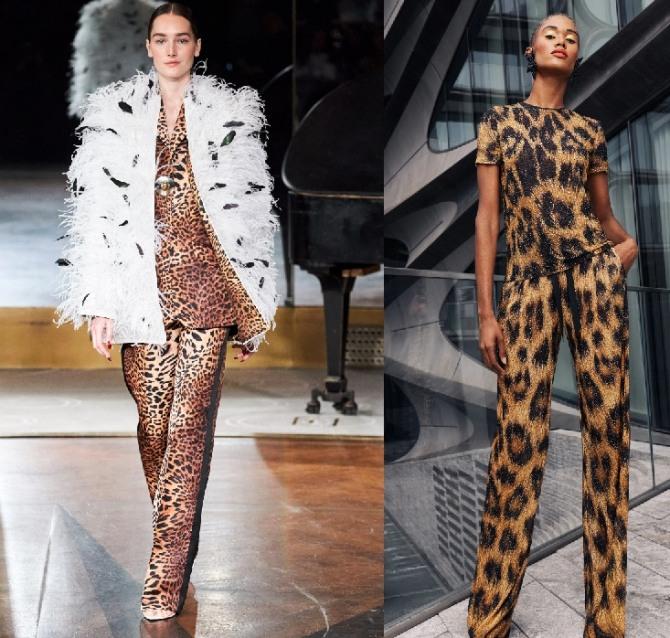 брючные костюмы с леопардовым принтом
