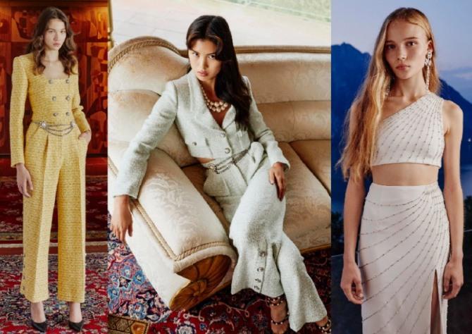 шикарные вечерние комплекты с юбками и брюками - фото из коллекций мировых брендов