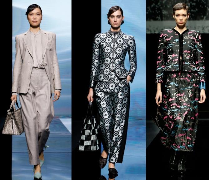 элегантные женские костюмы 2021 года от бренда Giorgio Armani