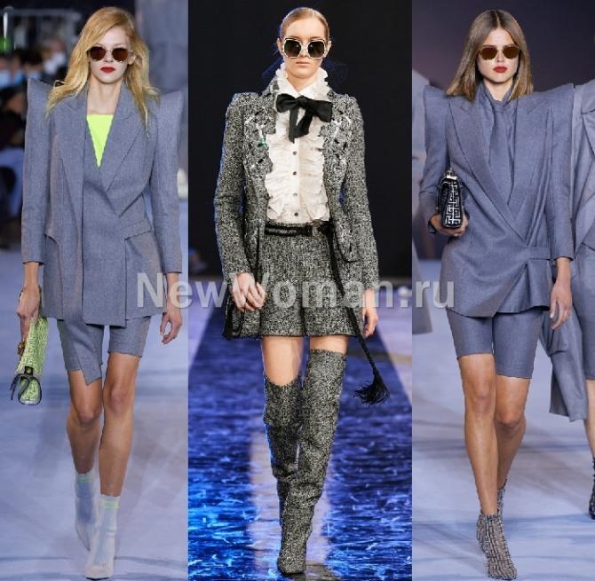 деловой женский ансамбль с шортами - офисный стиль 2021 года