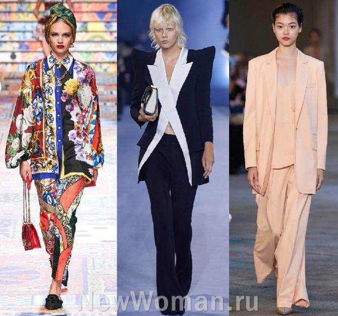 женские нарядные костюмы сезона весна-лето 2021 - новинки с модных показов