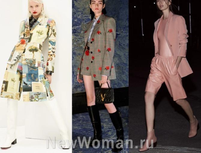 стильные молодежные комплекты для девушек 2021 года - пиджаки и жакеты с шортами, фото модных костюмов из брендовых коллекций