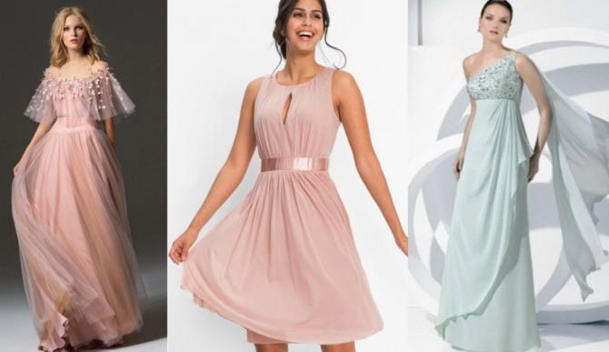 платья цвета пудры для нового года - знак Весы