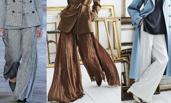 главные тенденции брючной моды 2021 года - брюки клеш