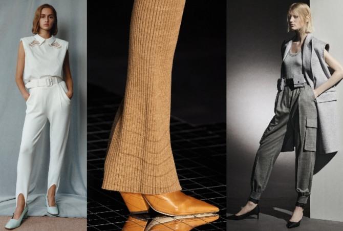 трикотажные женские брюки сезона весна-лето 2021 года