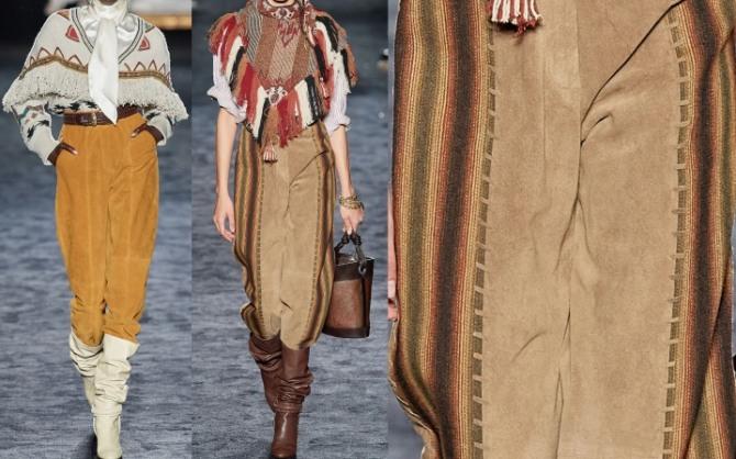 фото женских брюк из замши от бренда Этро