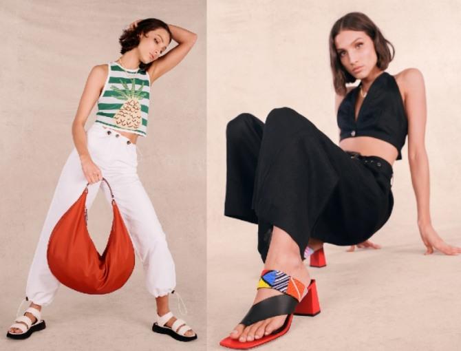 новинки летних образов для девушек на лето 2021 года - брюки плюс топ