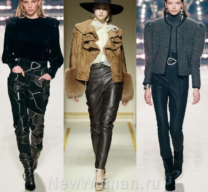 фото моделей модных узких брюк 2021 года - женские брюки-сигареты в тренде